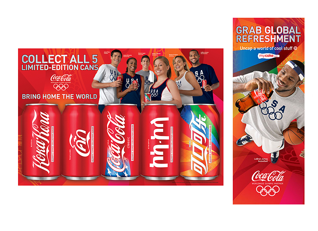 Beijing Olympics | Promotional Shelftalk | Signage | Coca-Cola