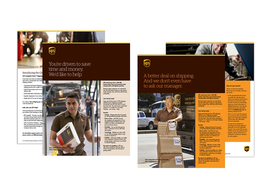 UPS collateral pieces