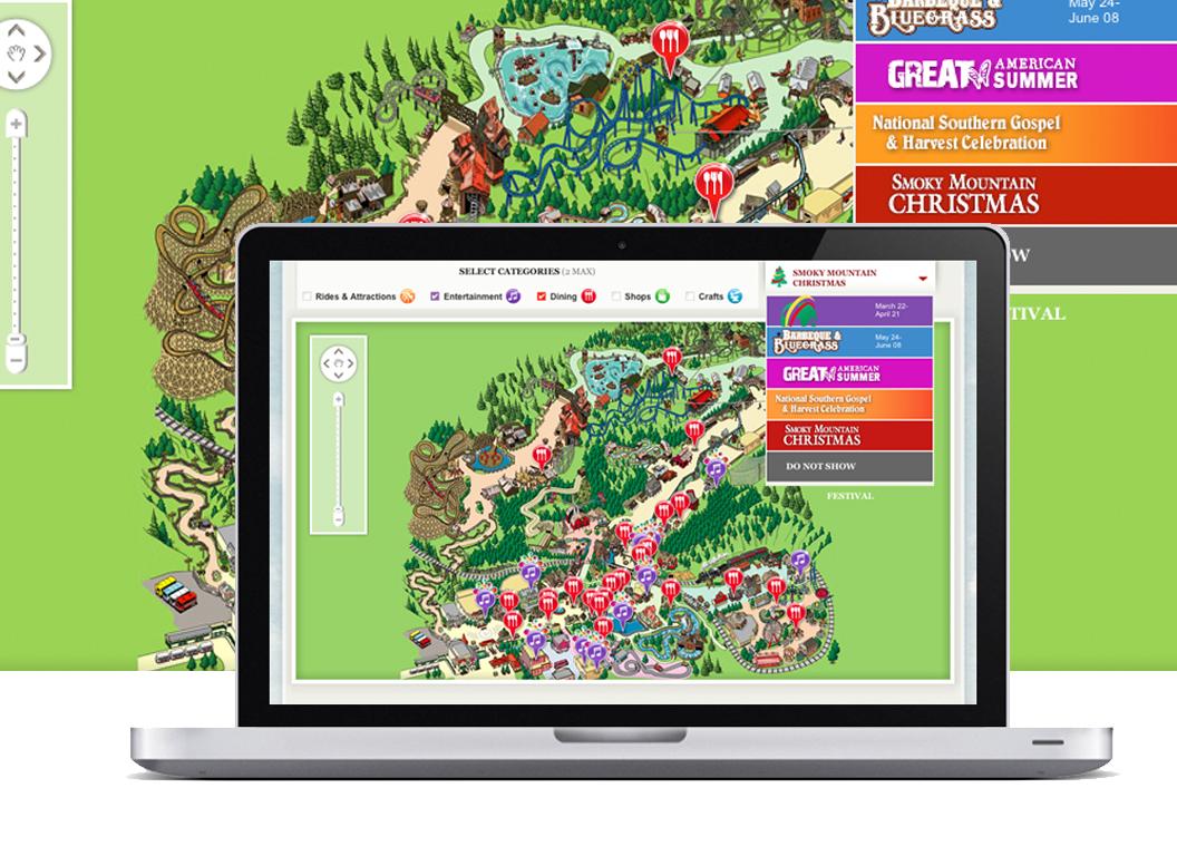 Dollywood Park Interactive Map | Menu