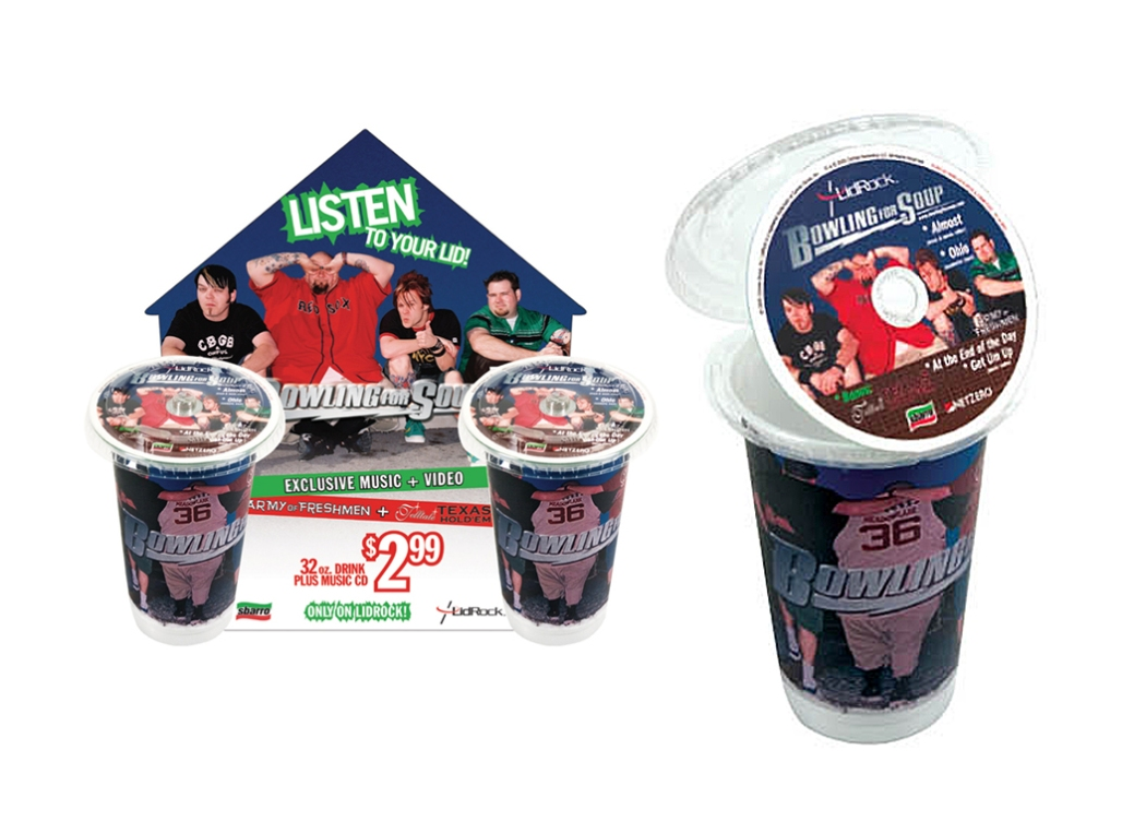 Lid/Rock Promotional POS display - Bowling for Soup