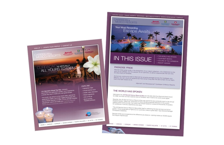 Marriott Resort and Hotels Newsletter