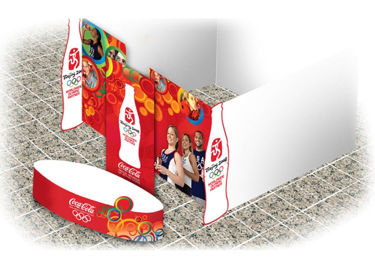 Coca-Cola Beijing Olympics booth