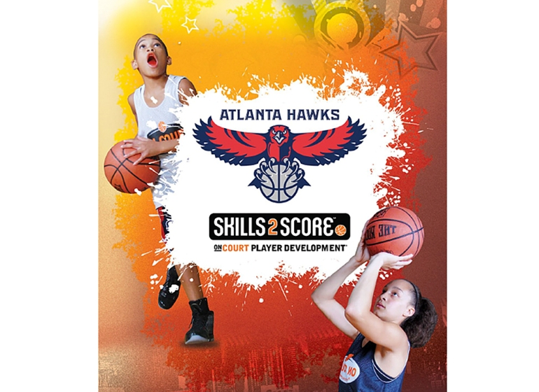 Skills2Score / Hawks After School Program Brochure Cover/ Digital Manipulation